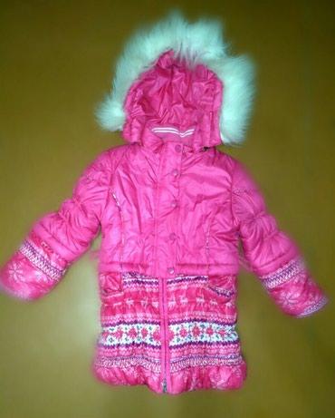 Зимняя куртка на 116 см, 6-7 лет. Состояние хорошее. 3 микрорайон. в Бишкек