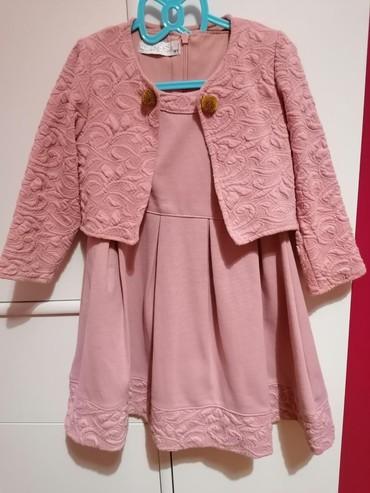 Haljina-postavljena - Srbija: Predivan set haljinica u kompletu sa bolerom, boja puder roze, vel 4y