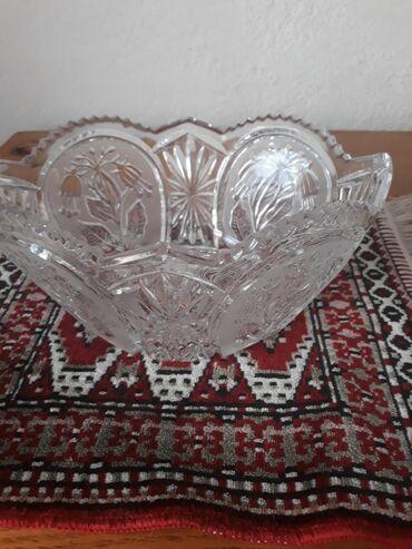 Чехословатская большая ваза хрусталь