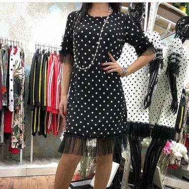 Платье в горошек , размер S. (Турция) в Кок-Ой