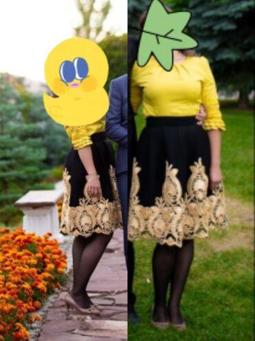 Личные вещи - Кировское: Одежда в отличном состоянии.Юбка размер S 500сом,платье размер М