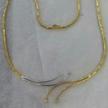 brilyant - Azərbaycan: 750 prob italyan brilyant qaşlı qızıl kolye 24.3 qram qızılı 0.40 sot