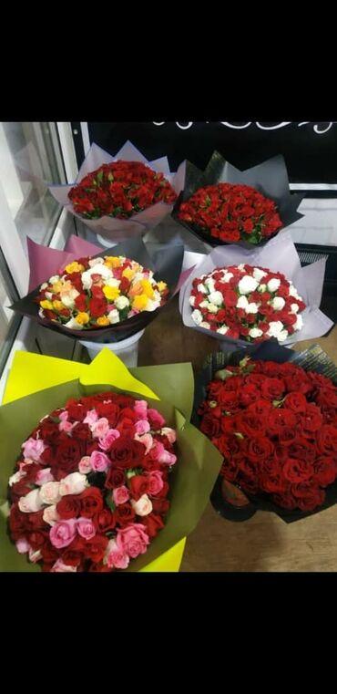 цветы и фигуры из шаров в Кыргызстан: ЦВЕТЫ,❗АКЦИЯ 101 роза  30 см  40 см  50 см  60 см  Оформление  До