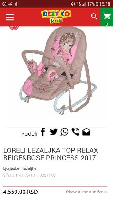 Za visinu - Srbija: Loreli lezaljke za bebe, kupljene nove u dexy co kids-u placene 4600di