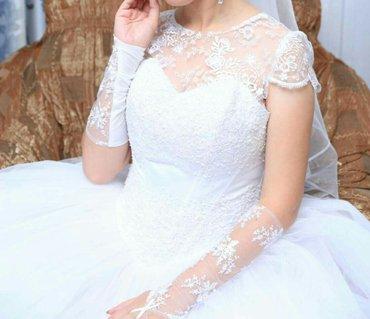 Продаю свадебное платье. одевала в Бишкек