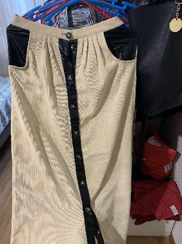 Продаю юбку в отличном состоянии ! Вильвет с кож ставками xs s