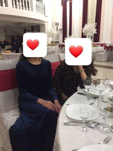 платье бархатное в пол в Кыргызстан: Продаю бархатное платье изумрудного цвета длинное в пол на рост