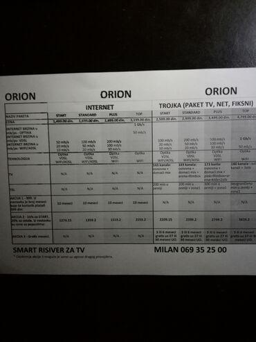 Zabava - Srbija: Orion Telekom Internet, TV fiksni telefon, cene sa popustom 20%