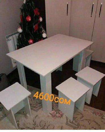 Мебель на заказ в Бишкек: Стол и 4 стула в комплекте на заказ!( Доставка бесплатная)