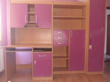 Decije sobe - Srbija: Na prodaju delovi decije sobe;- regal sa radnim stolom-krevet -stolica