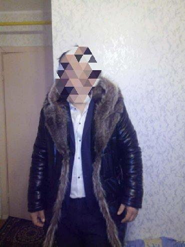 Мужская одежда - Джалал-Абад: Кожанный куртка с волчьим мехом.Одевал один сезон,покупал прошлом году