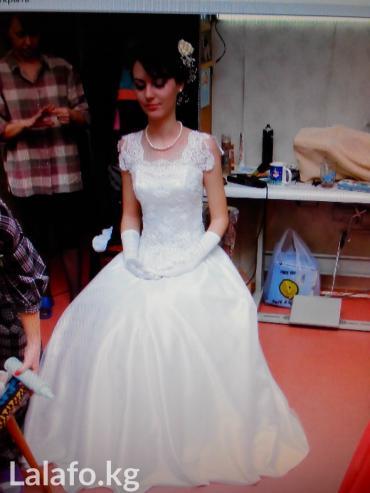 Свадебное платье Размер42-44;рост 170- в Бишкек