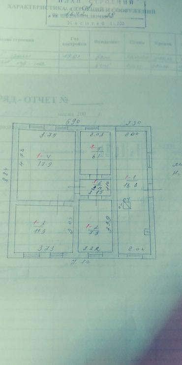Продается дом 62кв.2 саманный. кызыл аскер.2.5соток.есть хоз.постройки в Бишкек