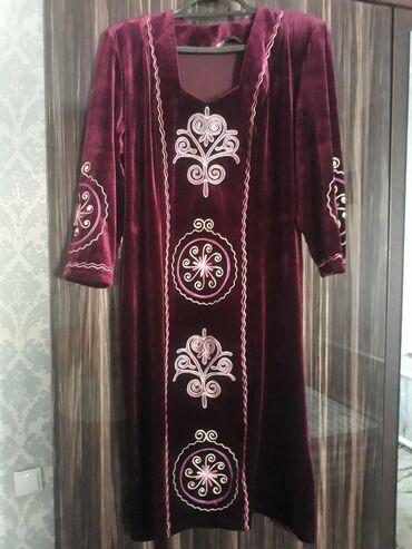 Платье национальное. Материал бархат. Шикарно смотрится. Размер 50