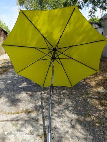 Садовые зонты - Кыргызстан: Зонт стационарный.Фирменный, диаметр 3 метра, с лебедкой,С функцией