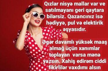 8 elan | İŞ: Şəbəkə marketinqi