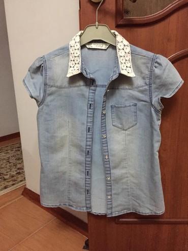 Джинсовая рубашка х/б в очень хорошем состянии 300 сом в Бишкек