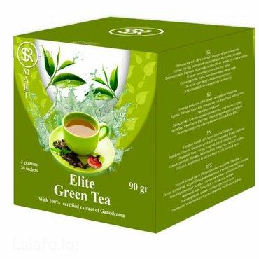 Зеленый чай с ганодермой. богат антиоксидантами и витаминами. имеет
