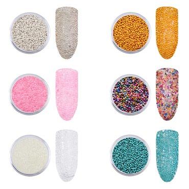 Kaviar za dekoraciju nokta ( 5 boja ) - Zajecar