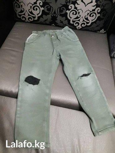 детские рваннын джинсы для мальчика 6-7 лет корейские в Бишкек