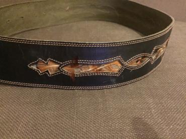 Lady's leather belt with feather decoration. 85cm. Good quality. σε North & East Suburbs