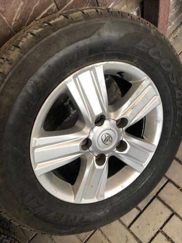 сколько стоит шины в Кыргызстан: Оригинал Шины и диски Лето для Land Cruiser 200 ( 285/60/18) Состояние