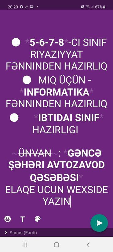 kurs - Azərbaycan: Gence dovlet universitetini bitmiwem.Riyaziyyat informatika ixtosasi