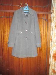 женский пальто в Кыргызстан: Новое женское пальто размер 44. серого цвета. фирма zeta (Турция)