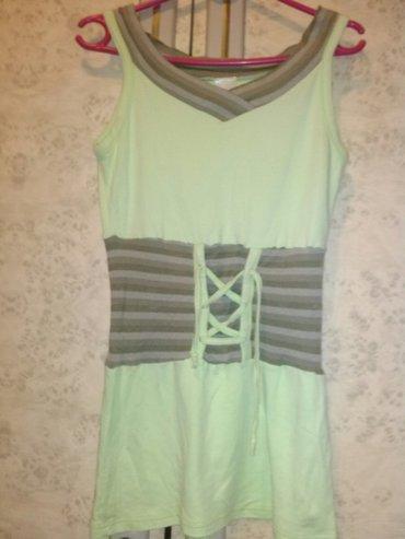 Ženska odeća | Kovin: Svetlo zelena majica tunika, mnogo lepsa uzivo, vel s/m