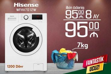 Bakı şəhərində Öndən Avtomat Washing Machine Hisense 7 kq.