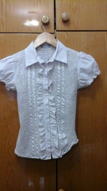 блузки для школы в Кыргызстан: Б / у Школьные блузки на девочку : 10 - 11 - 12 лет. Все 4 шт за 150