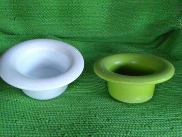 Saksije ili svecnjaci od keramike,preslatki,moze biti I cinije za - Sombor