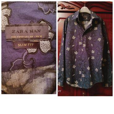 Zara фирменнаямужская молодежная рубашка хб. Не носилось. Цена 1500с