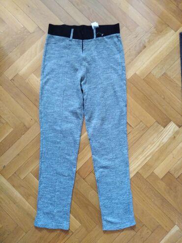 Pantalone tifany kroj - Srbija: Zara sive pantalone. Klasičan kroj, visok struk. Vel. M. Nove