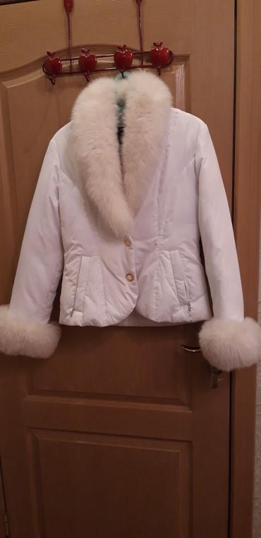 Куртка белая ,мех мягкий . в Бишкек