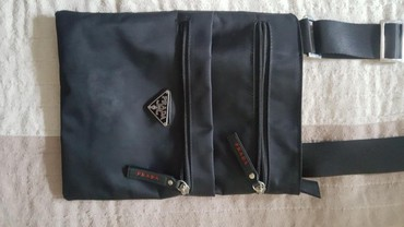 Prada cipele original - Srbija: PRADA muska torbica Original, doneta iz Italije, stanje 9 od 10