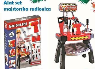Busilica - Srbija: Alat set radionica - 3700 dinSadrzi 27 delova pakovanju (delovi za