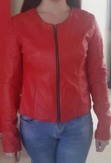 брендовые пуховики женские в Кыргызстан: Новая Кожаная куртка красного цвета размер 42-44-46 с Турции