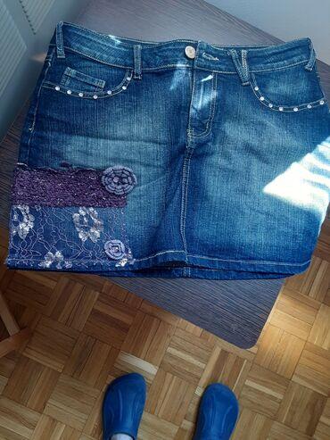 Zimska suknjica - Srbija: Texas mini suknjica.Sa .strane ima vez sa ruzicama.I za leto i za