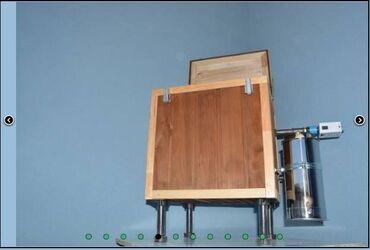 Elektrostatik hisə vermə aparatı 15-20 dəqiqəyə hazır olur . Ölçüləri
