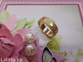 матированое кольцо с 7 бриллиантами огранка багет в Бишкек
