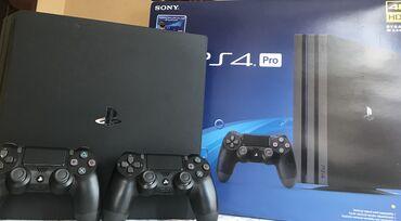 Playstation 4 pro 1TBAz işlənib.Yaddaşinda rəsmi oyunlar, playstation