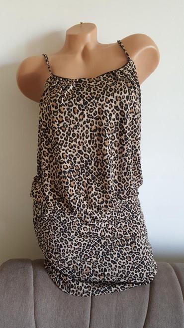 Leopard haljina, vel 36/38, na bretele, nosena, bez ostecenja. - Arandjelovac