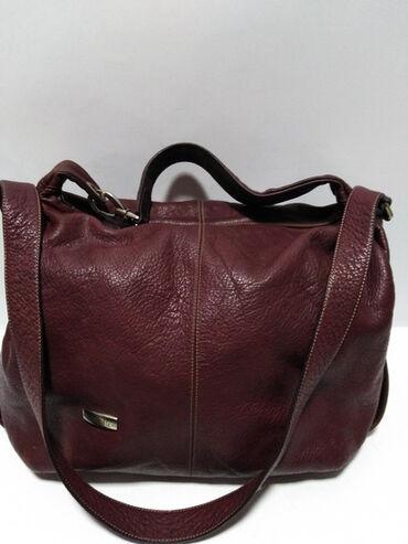 Manual torba - Srbija: MANUAL velika kožna torba prirodna fina mekna kvalitetna deblja a