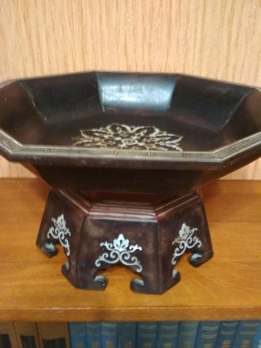 Vazalar - Azərbaycan: Раритетная китайская ваза прошлого века из красного дерева.Вставка из