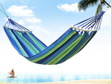 Lezaljka - Srbija: Bahama viseće lezaljke za odmor u prirodi u plavo zelenom dezenu