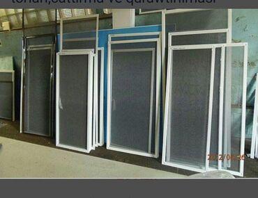 Her nov plastik qapi pencerelerin hazirlanmasi ve temiri.Agcaqanad tor