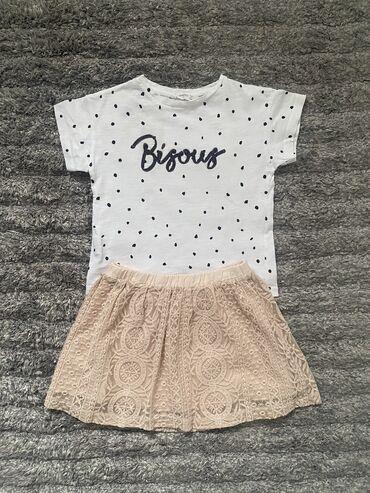 Zara suknja i Mango majica, vel 5