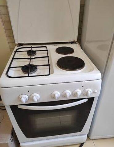 Электро-газовая плита и электрическая духовка, б/у в рабочем