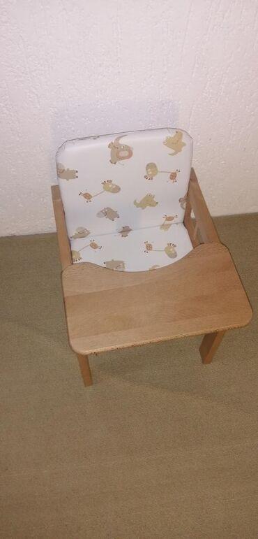 Stolica za hranjenje - Srbija: Drvena stolica za hranjenje